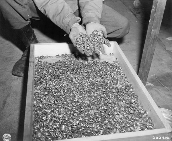 Ovens Jewish Wedding Rings recovered from concentration camp